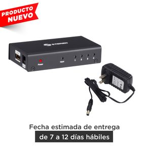 Divisor con amplificador HDMI, de 4 salidas