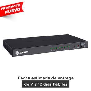 Divisor con amplificador HDMI, de 8 salidas