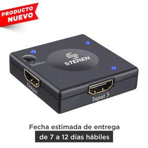 Selector semi automático Steren HDMI® de 3 entradas