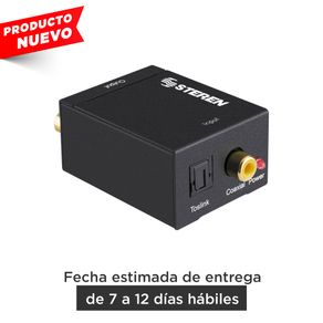 Convertidor Steren de audio digital (óptico digital o coaxial digital) a analógico (RCA)
