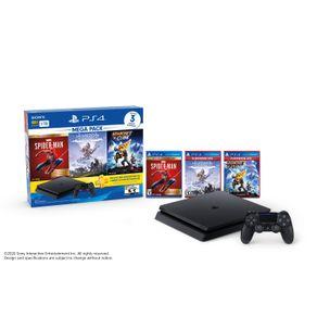 Consola PlayStation 4 1TB MegaPack15 SpiderMan-Horizon-RatchetClank