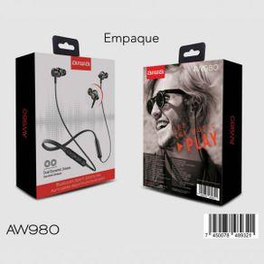 Audífonos Deportivos Aiwa de Bluetooth AW 980